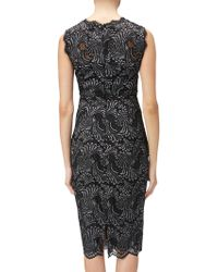 Adrianna Papell - Two Tone Metallic Lace Evening Dress - Lyst