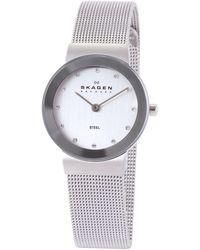 Skagen - 358sssd Women's Stainless Steel Mesh Bracelet Strap Watch - Lyst