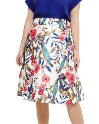 Studio 8 Samantha Floral Skirt - Blue