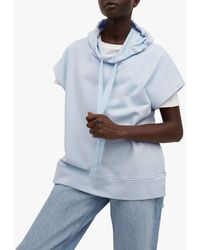 Mango Oversized Sleeveless Sweatshirt - Blue
