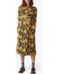 Toast - Linear Floral Print Silk Dress - Lyst
