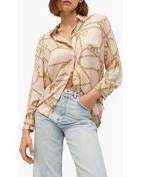 Mango Chain Print Shirt - Pink