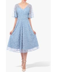 Jolie Moi - Flare Lace Midi Dress - Lyst