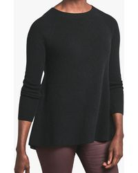Pure Collection Cashmere Swing Jumper - Black