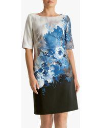 Fenn Wright Manson Rosine Floral Print Dress - Blue