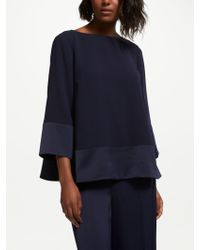 Bruce By Bruce Oldfield - Satin Back Crepe Top - Lyst