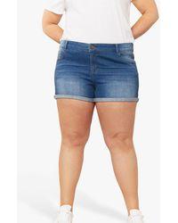Oasis Curve Denim Shorts - Blue