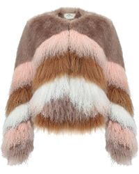 Urbancode Flossy Chubby Coat - Multicolour