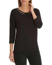 Betty Barclay Embellished Top - Black