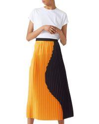 Jigsaw - Circle Pleated Skirt - Lyst