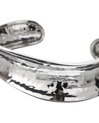 John Lewis - Andea Sterling Silver Hammered Concave Cuff - Lyst