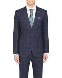 Ted Baker - Stefanj Check Tailored Suit Jacket - Lyst