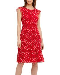 Phase Eight - Bea Embroidered Daisy Tired Dress - Lyst
