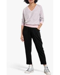 Hush Cropped Trousers - Black
