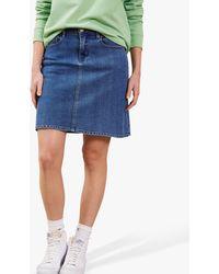 Baukjen Cassi Organic Cotton Denim Skirt - Blue