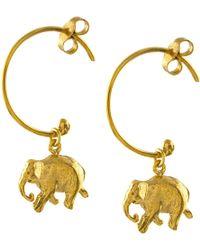 Alex Monroe | Indian Elephant Hoop Earrings | Lyst
