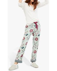 White Stuff Trailling Flower Pyjama Bottoms - Green