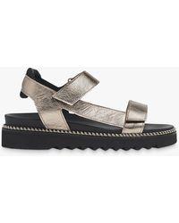 Whistles Noah Sporty Riptape Leather Sandals - Multicolour