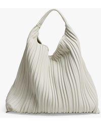 Mango Pleated Bucket Bag - White