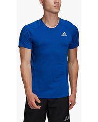 adidas Runner Short Sleeve Running Top - Blue