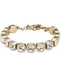 Dyrberg/Kern - Conian Gold Single Crystal Bracelet - Lyst
