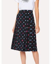 Paul Smith - Scribble Spot Print Skirt - Lyst