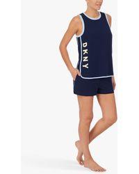 DKNY Tank Top And Shorts Pyjama Set - Blue