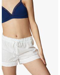 Maison Lejaby Cotton Pyjama Shorts - White