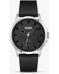 BOSS by Hugo Boss Hugo First Leather Strap Watch - Multicolour