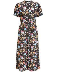 Somerset by Alice Temperley Peruvian Floral Shirt Dress - Black