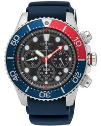 Seiko - Ssc663p1 Men's Prospex Divers Solar Chronograph Date Silicone Strap Watch - Lyst