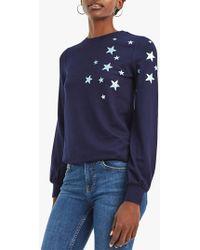 Oasis Scattered Star Sweatshirt - Blue
