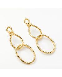 Kate Spade - Sailors Knot Loop Earrings - Lyst