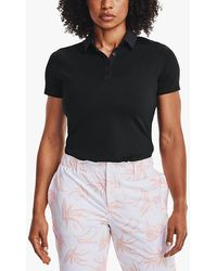 Under Armour Zinger Short Sleeve Polo Shirt - Black