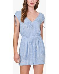 White Stuff Patchwork Playsuit - Blue