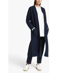Modern Rarity Long Back Belted Coatigan - Blue