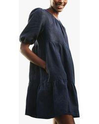 Baukjen Lucy Hemp Tiered Dress - Blue