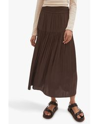 Jigsaw Crocus Midi Skirt - Brown