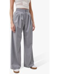 French Connection Ikari High Waist Trousers - Grey