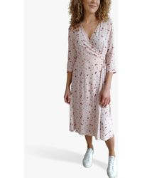 Baukjen Adele Petal Print Wrap Dress - Multicolour