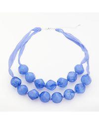 John Lewis - Hexagon Facet Resin Bead Layered Necklace - Lyst
