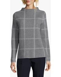 Betty & Co. Check Knit Jumper - Grey