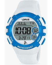 Lorus - R2393lx9 Women's Digital Silicone Strap Watch - Lyst