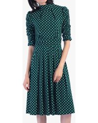 Jolie Moi - Geometric Print Turtleneck Dress - Lyst