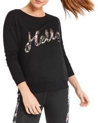 Oasis Hello Speedy Sweatshirt - Black
