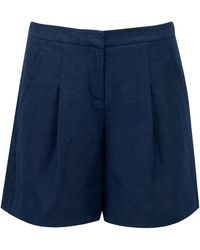 Pure Collection | Aubree Laundered Linen Shorts | Lyst