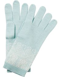 Pure Collection - Eva Cashmere Fair Isle Gloves - Lyst