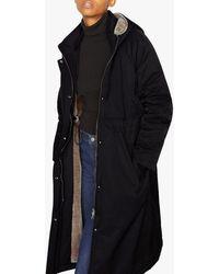 Jigsaw Hooded Parka Jacket - Black