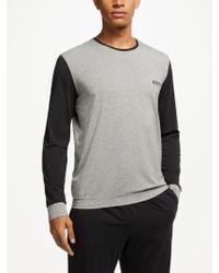 BOSS - Boss Balance Contrast Detail Jersey Pyjama Top - Lyst