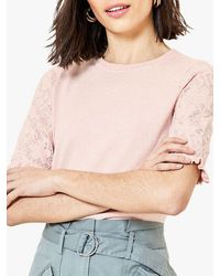 Oasis Frill Lace Knit Jumper - Pink